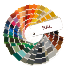 Doors are also available in all colours of RAL palette.